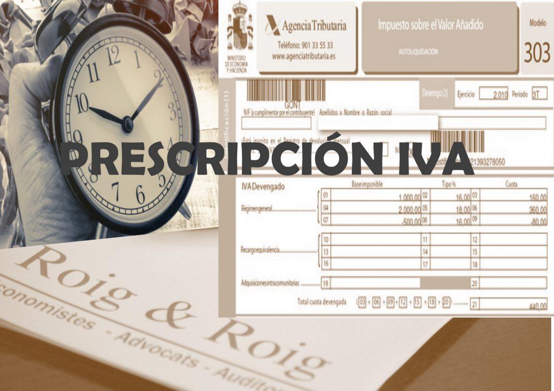 PRESCRIPCION IVA