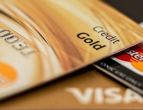 Targetes de crèdit en primer pla