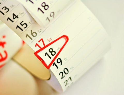Calendari amb marcador