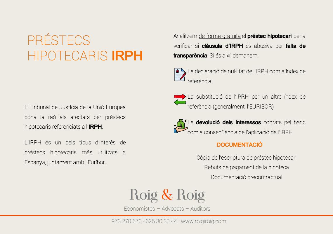 Inforafia sobre IRPH